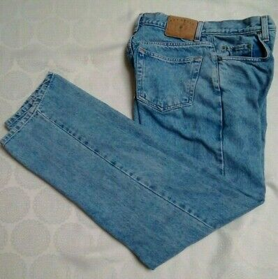 GAP Loose Fit Men 30 x 32 Heavy Denim Best Basic Blue Jeans Fade/Lt