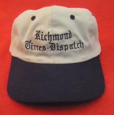 Vintage Richmond Times Dispatch Newpaper Hat Cap