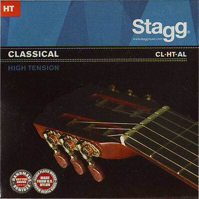 1x Gitarrensaiten Konzert-/Klassik-Gitarre Nylon Saiten High Tension Seiten HT gebraucht kaufen  Alkersum