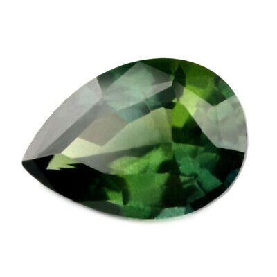 Certified Natural Green Sapphire 1.04ct VS Clarity Madagascar Pear 7.4x5.3 mm