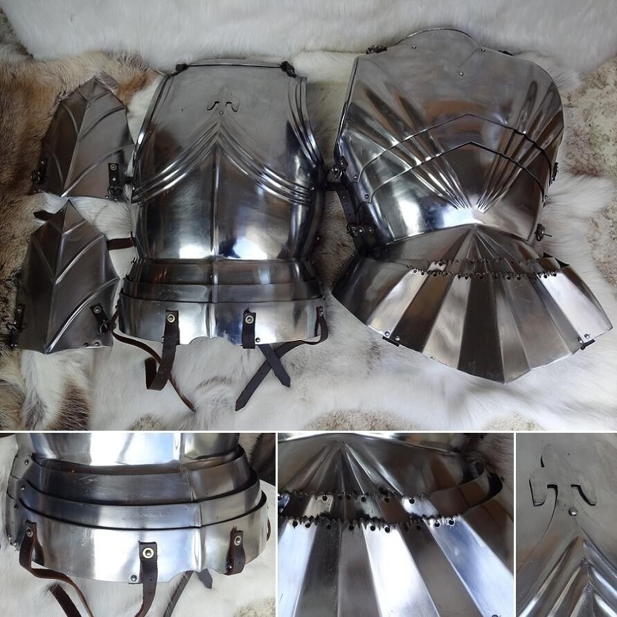 LARP 14th Century Archers Leg Protection Reenactment Role-play Theater Medieval Steel Leg Armour