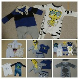 BABY BOY CUTE OUTFIT BUNDLE 3-6 months MOTHERCARE ,GAP, NEXT summer Dungarees Rompers