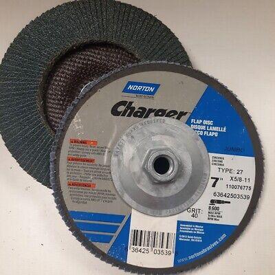 "Norton Red Heat 4 1//2/"" X 5//8/"" 11 60 Grit Grinding Sanding Flap Disc 5 per Box"