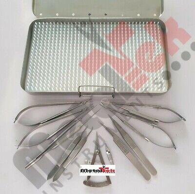 Micro Surgery Set Micro Needle Holder Scissors Micro Surgical Instruments