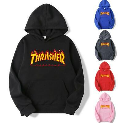 Mens/Womens Hoodie Coat Casual Hip-hop Skateboard Thrasher Sweatshirts Pullover