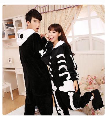 Hot Unisex Adult Pajamas Kigurumi Cosplay Costume Animal Onesie0 Suit skeleton - Adult Skeleton Onesie