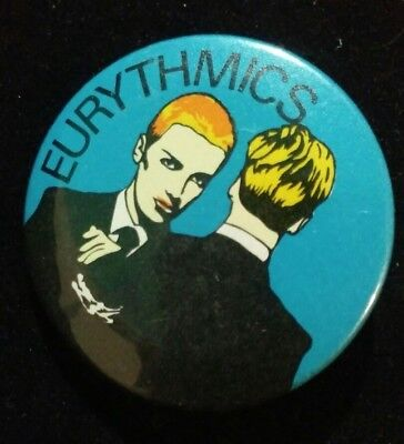 Authentic Vintage 80's EURYTHMICS  Pin *NEW*
