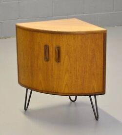 Retro Mid Century G Plan Fresco Scandinavian Style Cabinet mounted on hairpin legs