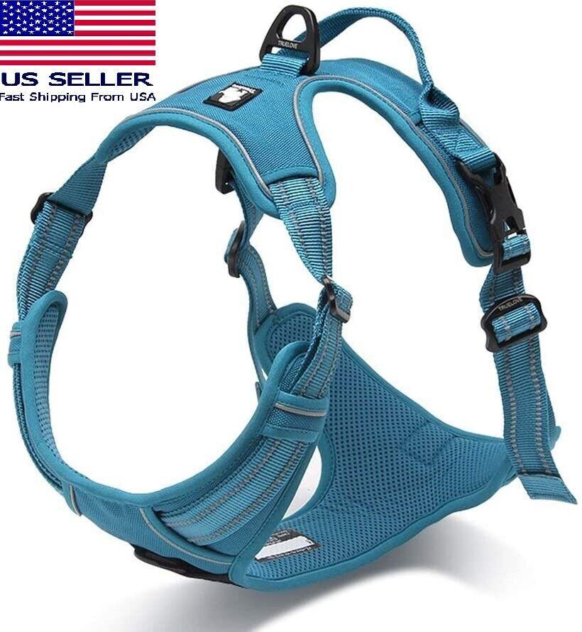 Truelove Adjustable Reflective Safety Dog Harness Comfy No-Pull – Red XS Dog Supplies