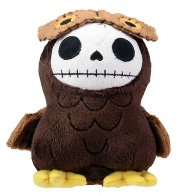 FURRYBONES PLUSH - HOOTIE THE OWL  SKULL SKELETON IN COSTUME - 4.75