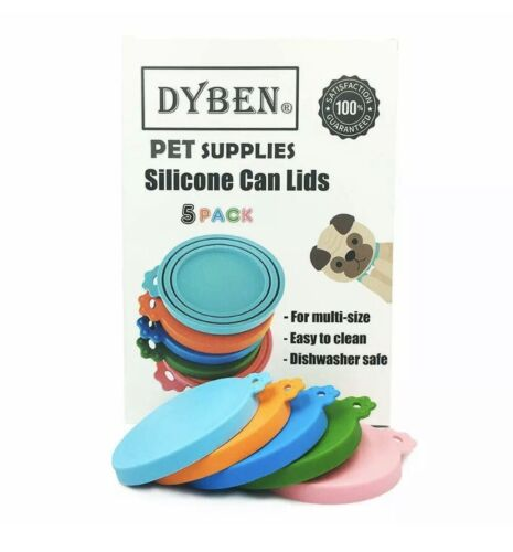 DYBEN Pet Can Covers/Dog Cat Food Can Lids/Universal BPA Free/Silicone Pet Food