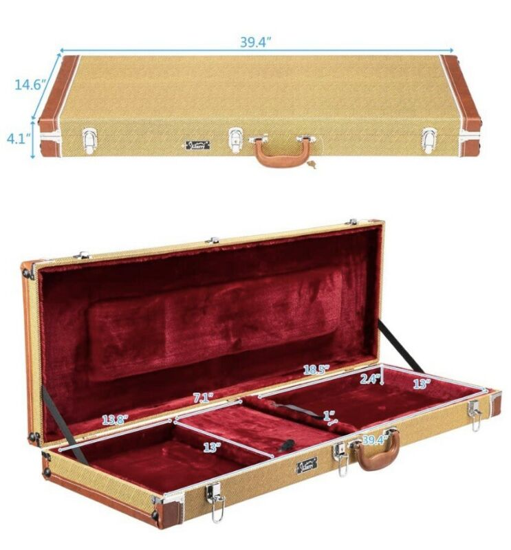 Tweed Hard Case For Stratocaster And Telecaster Style Guitars
