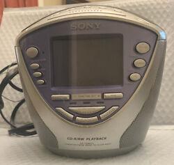Sony Dream Machine ICF-CD853V CD/CD-R/RW AM/FM  Alarm Clock Radio