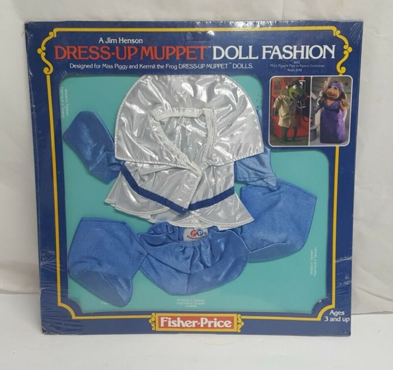 1 Vintage Fisher Price Muppets Ms Piggy Outfit 892 SPACE SEALED NOS doll fashion