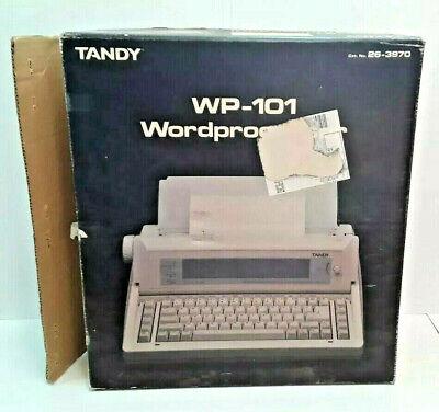 Tandy Word Processor Wp-101 Typewriter Portable With Handle Vintage Radio Shack