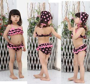 Girls-Kids-Swimwear-Tankini-Swimsuit-Bikini-Bathers-Size2-8Y-Swiming-Costume