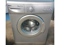 m477 silver beko 5kg 1000spin rpm washing machine comes with warranty can be delivered or collected