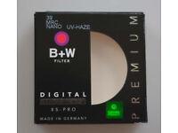 B+W 39mm MRC Nano XS-Pro Digital 010 UV-Haze Filter for Fuji X & Summicron MINT. BOXED. Post paid.