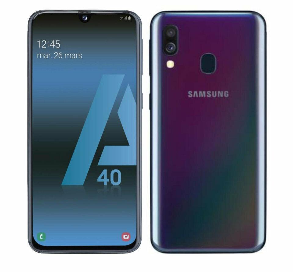 SAMSUNG GALAXY A40 64GB+4GB RAM SMARTPHONE TELEFONO MOVIL LIBRE NEGRO BLACK 4G