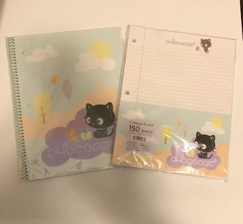 Lot of Sanrio Smiles Chococat Stationary notebook schoolpaper  RARE 2004