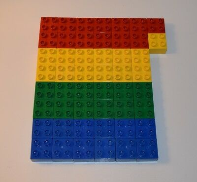 - Lego Duplo Bricks 2x2 Basic Primary Colors LOT OF 50     #DP56