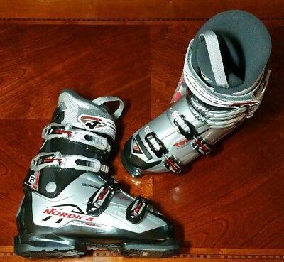 Nordica Sport Machine 8 Snow Ski Boots White Grey Mens Mondo 25 US 8 NEW for sale  Shipping to Canada