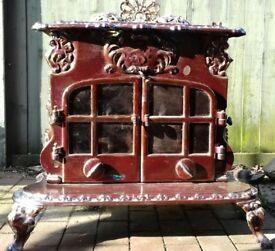 Ornate Esse 'Dragon' Log burner/stove