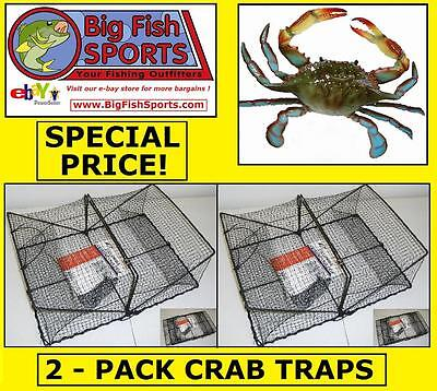 2-PACK CRAB CRAWFISH TRAP Folding Trap! NEW! #TR101