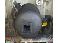 Gas forge with burner and propane