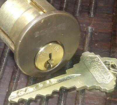 Schlage Primus Mortise Cylinder Brown Face W 1 Key