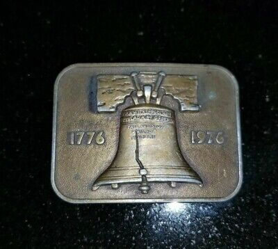 Liberty Bell Bicentennial 1776 1976 Belt Buckle Patriotic America Independence ()