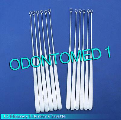 12 Heaney Uterine Biopsy Curette Obgynecology Instruments
