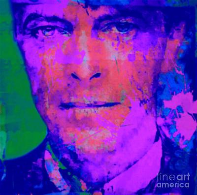 David Bowie Pop Art Kunstdruck//Bild/Malerei/Poster/100 cm x 100 cm