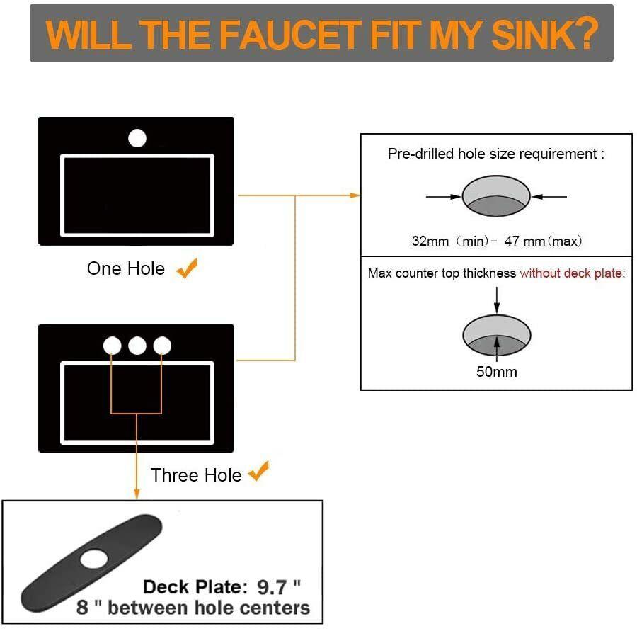 Kitchen Faucet Black Pull Down Sprayer Head 3 Holes Sink Taps W/soap dispenser 9
