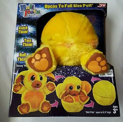 Ball Pets Sunny The Puppy Yellow Plush Stuffed Animal Toy Dog As Seen On TV NEW