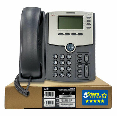 Cisco SPA514G 4-Line Gigabit IP Phone - Brand New, 1 Year Warranty