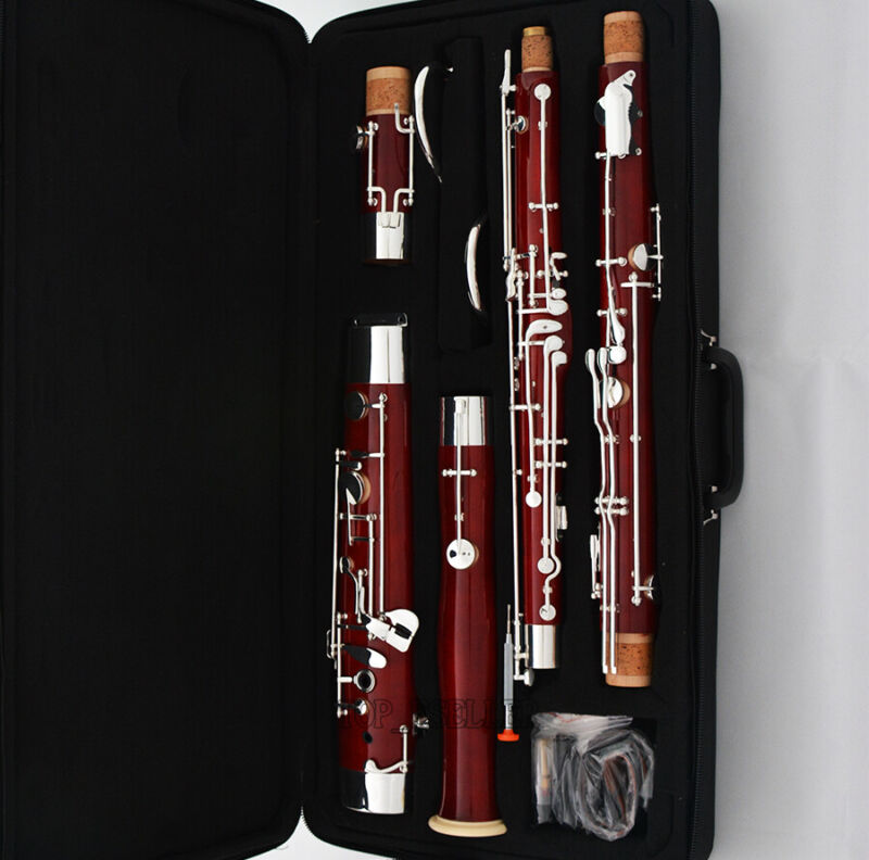 Professional Maple Bassoon Heckel system C Keys Silver Plated With Case