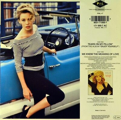 """7"""" KYLIE MINOGUE Tears On My Pillow CV LITTLE ANTHONY orig. PWL D 1990 like NEW!"""