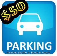 Overnight parking for Boots & Hearts