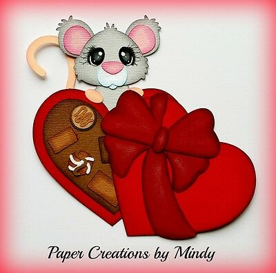 Craftecafe Mindy Valentines mouse premade paper piecing for scrapbook page album