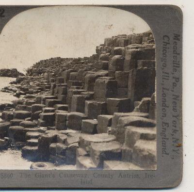 Giants Causeway County Antrim Ireland Keystone Stereoview C1900