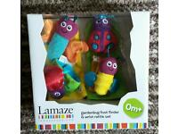 Lamaze foot finder & wrist rattle set