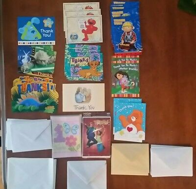 VINTAGE THANK YOU CARDS HALLMARK AMERICAN GREETINGS LARGE LOT 49 Kids 1st Bday](Large Thank You Cards)