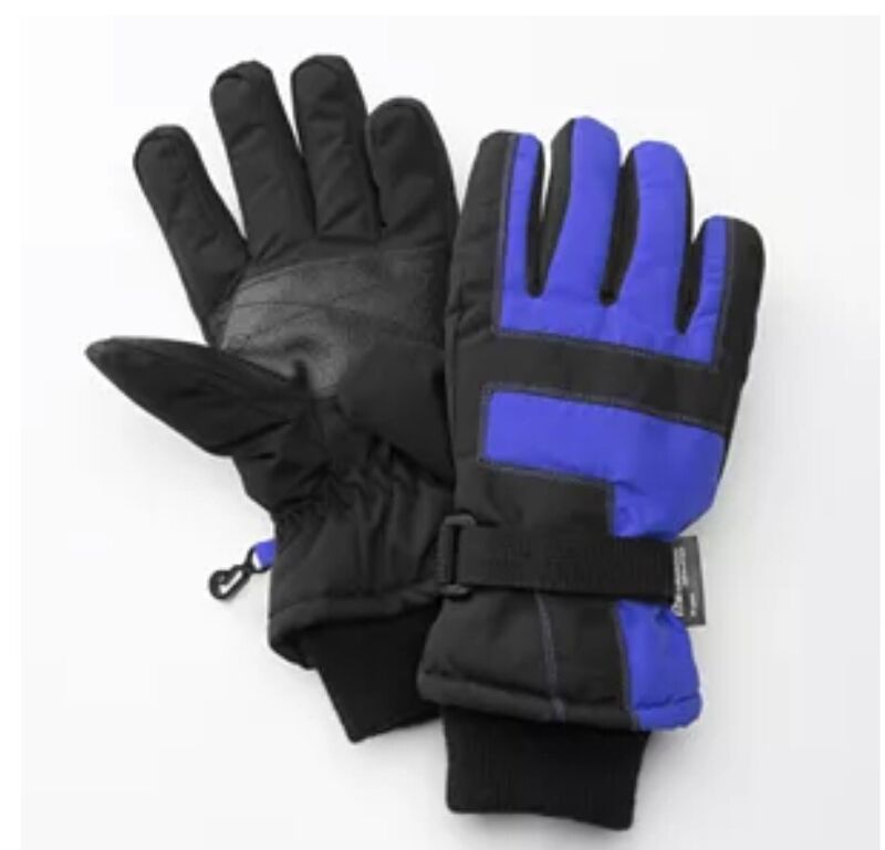 *NEW Boys Tek Gear Blue Performance Ski Gloves Thinsulate Winter Youth Size 8-20