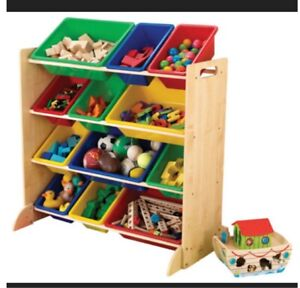 Kidcraft Colourful Toy Bin - proceeds to charity!