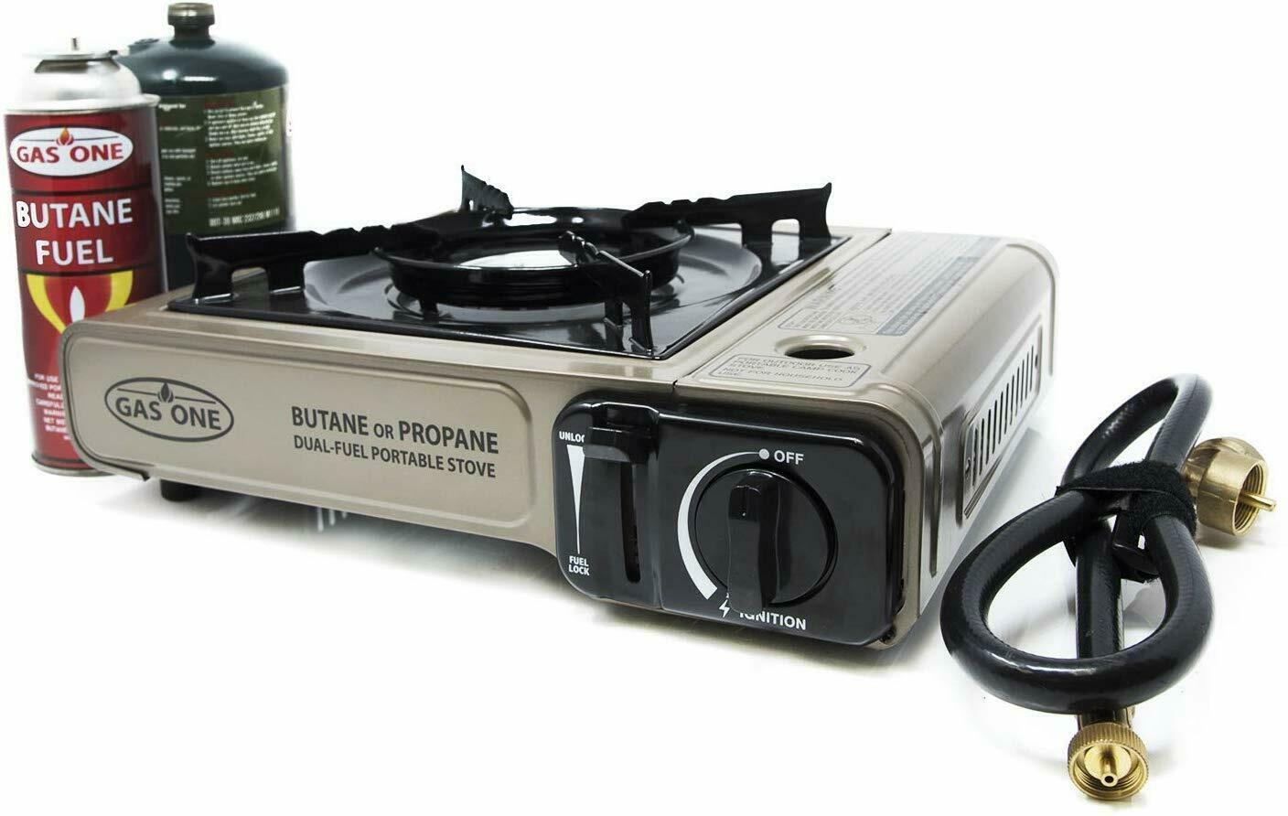 Dual Fuel Portable Propane Butane Camping Backpacking Gas St