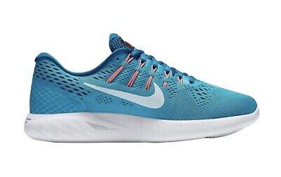 Nike Lunarglide 8 Running Shoes Size UK 4.5 blue/pink/white