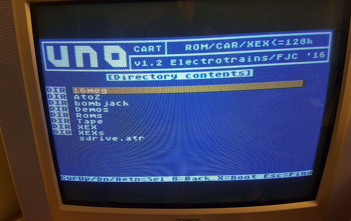 |UnoCart Atari 800xl 130xe 65xe XEGS Sd cartridge …