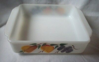 FIREKING ANCHOR HOCKING GAY FAD FRUIT RECTANGLER BAKING PAN VINTAGE