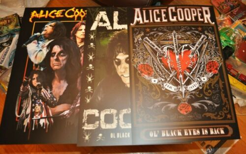 Alice Cooper Set Of 3 VIP Posters Ole Black Eyes Is Back Tour Limited